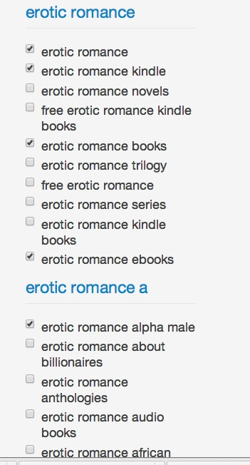 amazon keyword erotic romance